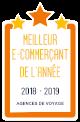 Meilleur E-Commerçant de l'année - 2018/19 - Catégorie Agences de Voyage