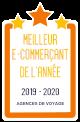Meilleur E-Commerçant de l'année - 2019/20 - Catégorie Agences de Voyage